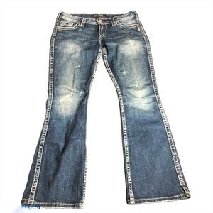 Size 29/31 Silver Twisted Jeans